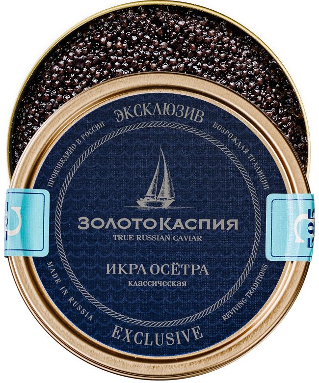 Black caviar from Caspian Sea  - Золото Каспия